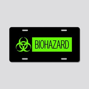 HAZMAT: Biohazard (Slime Gr Aluminum License Plate