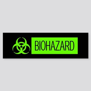 HAZMAT: Biohazard (Slime Green & Sticker (Bumper)