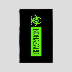 HAZMAT: Biohazard (Slime Green & Black) Area Rug