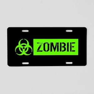 Zombie: Biohazard (Slime Green) Aluminum License P