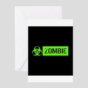 Zombie: Biohazard (Slime Green) Greeting Cards
