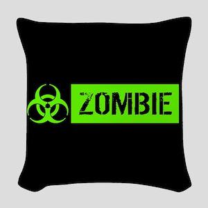 Zombie: Biohazard (Slime Green) Woven Throw Pillow