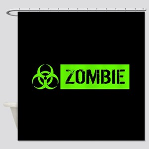 Zombie: Biohazard (Slime Green) Shower Curtain