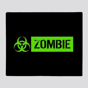 Zombie: Biohazard (Slime Green) Throw Blanket