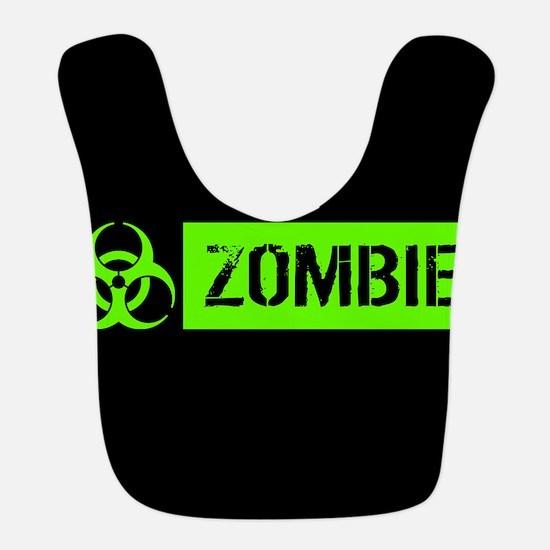 Zombie: Biohazard (Slime Green) Polyester Baby Bib
