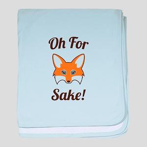 Oh For Fox Sake baby blanket