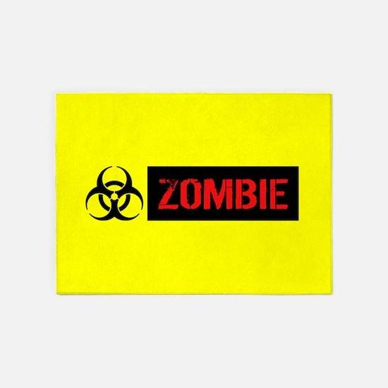 Zombie: Biohazard (Red, Black & Yel 5'x7'Area Rug