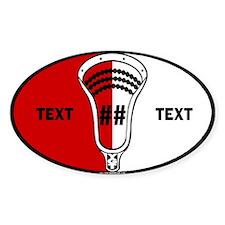 Lacrosse Oval SCN Custom Sticker (Oval)