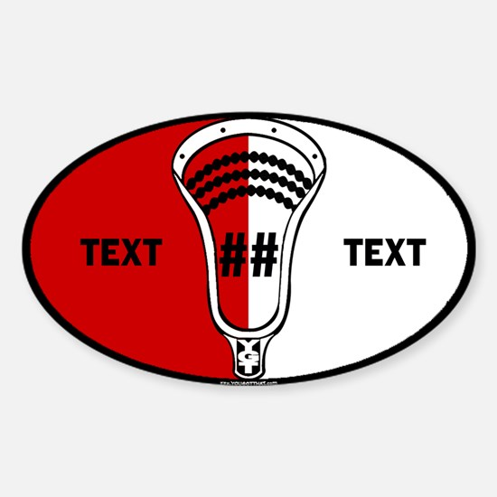 Lacrosse Oval SCN Custom Sticker (Oval)