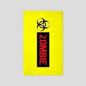 Zombie: Biohazard (Red, Black & Yellow) Area Rug