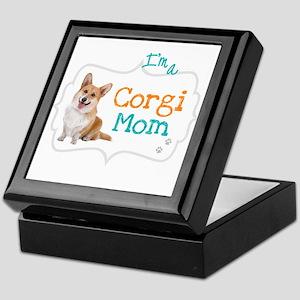 Im A Corgi Mom Keepsake Box