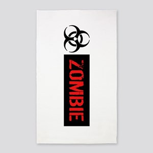 Zombie: Biohazard (Red, White & Black) Area Rug