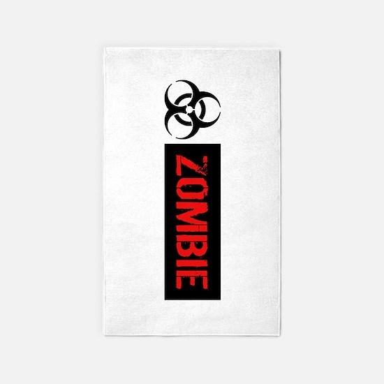 Zombie: Biohazard (Red, White & Black) Area Rug