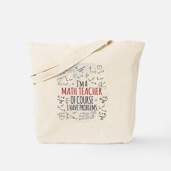 Cute Math teacher Tote Bag