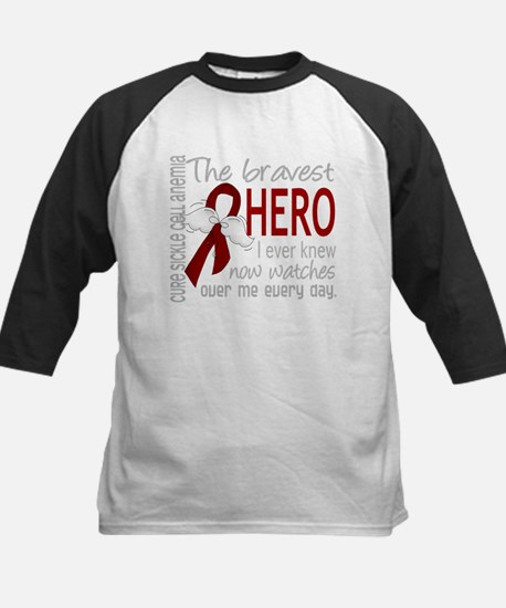 -Sickle Cell Anemia Bravest Hero 1D Baseball Jerse