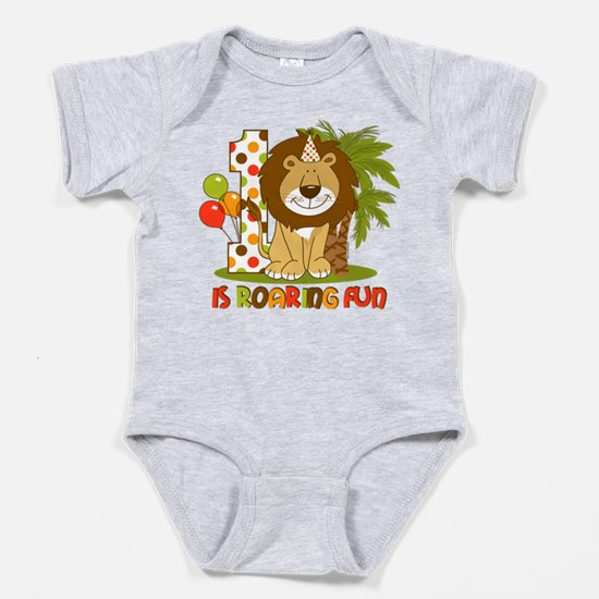 Cute Lion 1st Birthday Baby Bodysuit