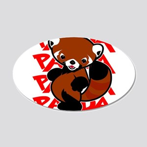 Red Panda panda panda Wall Decal