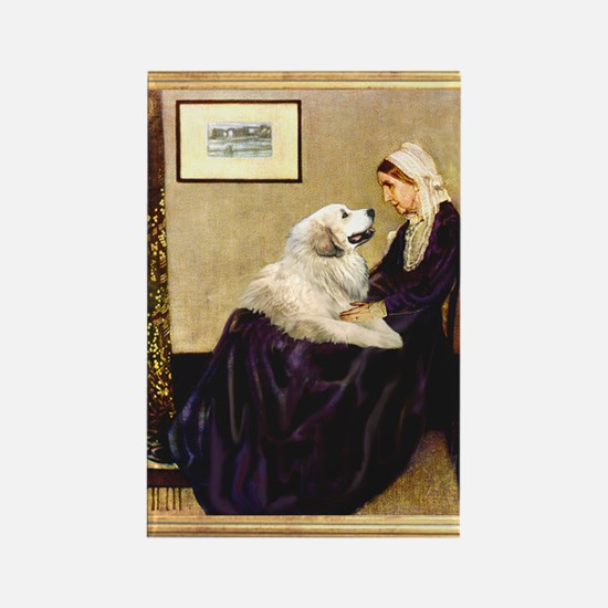 WMom-Great Pyrenees Rectangle Magnet