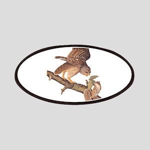 Owl and Squirrel Vintage Audubon Art Patch