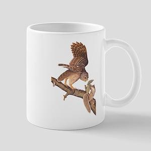 Owl and Squirrel Vintage Audubon Art Mugs