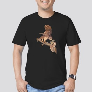 Owl and Squirrel Vintage Audubon Art T-Shirt