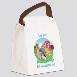 Barn Hunt Canvas Lunch Bag