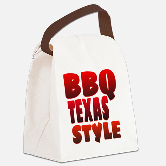 Funny Texas bbq Canvas Lunch Bag