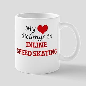 My heart belongs to Inline Speed Skating Mugs