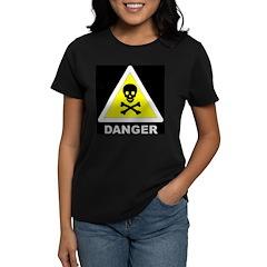 Danger - Poison skull & cross Women's Dark T-Shirt