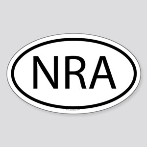 NRA Oval Sticker