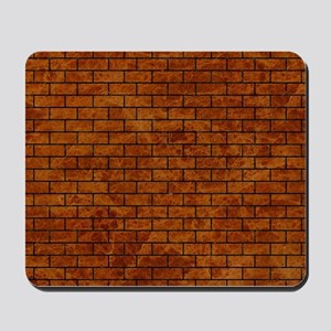 BRICK1 BLACK MARBLE & BROWN MARBLE (R) Mousepad