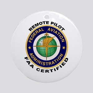 FAA Certified Remote Pilot Round Ornament