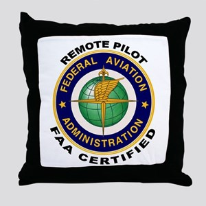 FAA Certified Remote Pilot Throw Pillow