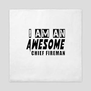 I Am Chief fireman Queen Duvet