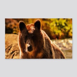 Bear On Log Area Rug