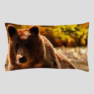 Bear On Log Pillow Case