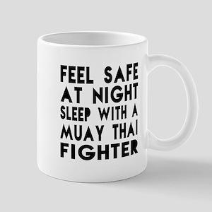 Feel Safe With Muay Thai Fighter Mug