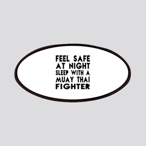 Feel Safe With Muay Thai Fighter Patch