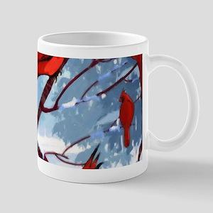 Cardinals Winter Landscape Mug