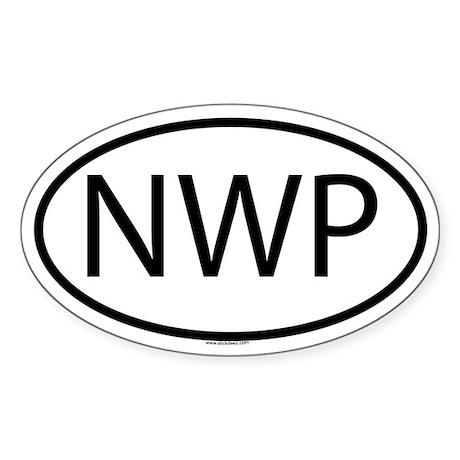 NWP Oval Sticker