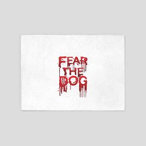 Fear 5'x7'Area Rug