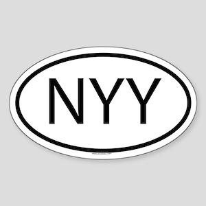 NYY Oval Sticker