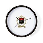 BOUCHARD Family Crest Wall Clock