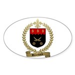 BOUCHARD Family Crest Oval Sticker
