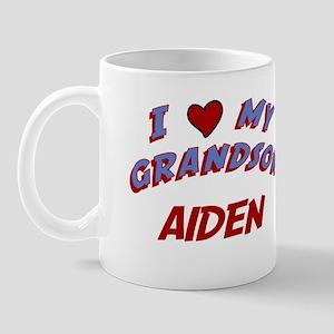 I Love My Grandson Aiden Mug