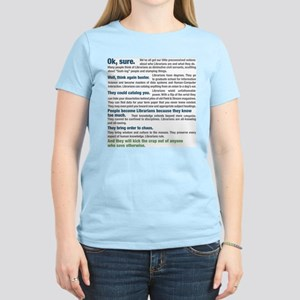 Worship a Librarian Women's Classic T-Shirt