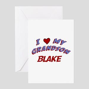 I Love My Grandson Blake Greeting Card