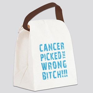 WRONG BITCH! Canvas Lunch Bag