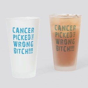 WRONG BITCH! Drinking Glass