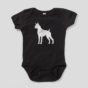 Boxer 1 White Baby Bodysuit